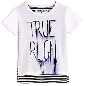 True Religion TODDLER/LITTLE KIDS SKETCHED STRIPE GRAPHIC TEE