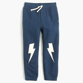 J.Crew Boys' glow-in-the-dark lightning bolt sweatpant in classic fit