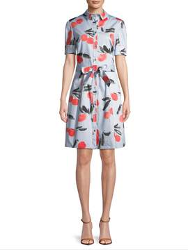 Carolina Herrera Women's Cherry-Print Shirtdress