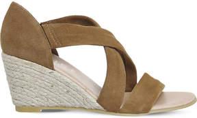 Office Maiden suede wedge espadrille sandals