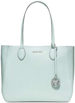 Michael Kors Mae Large Leather Reversible Tote - Celadon - 30S6SM5T3M-302 - CELADON/SILVER - STYLE