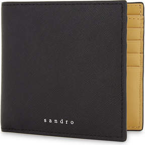 Sandro H17 Saffiano leather wallet