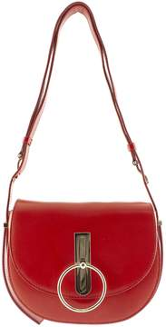 Nina Ricci Shoulder Bag In Red Leather.