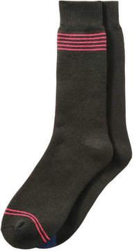 Joe Fresh Men's 2 Pack Full Cushion Crew Socks, JF Black (Size 10-13)