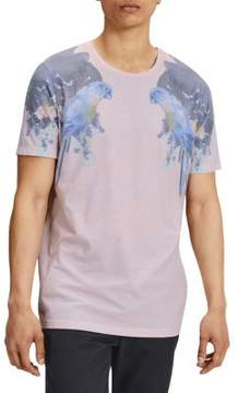 Jack and Jones Jorroof Bird-Print Short-Sleeve Tee