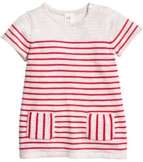 H&M Fine-knit Cotton Dress - Red