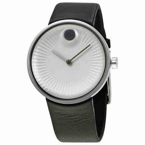 Movado Edge Silver-Tone Aluminum Dial Men's Watch 3680001