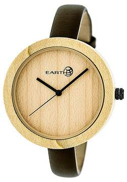 Earth Wood Women's Yosemite Leather Strap Watch