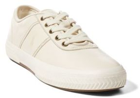 Ralph Lauren Tyrian Nappa Low-Top Sneaker Artist Cream 15