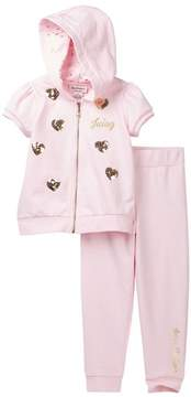 Juicy Couture Pink Terry Hoodie & Pant Set (Toddler Girls)