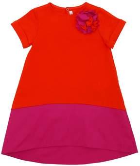 Il Gufo Cotton Jersey & Stretch Poplin Dress