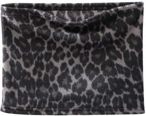 Joe Fresh Women's Leopard Print Turtleneck Scarf, Grey (Size O/S)