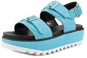 Hunter Double Buckle Sandal Women Open-toe Leather Sport Sandal.