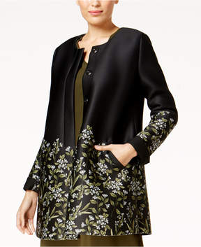 Alfani Floral-Print Scuba Swing Jacket, Created for Macy's