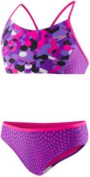 Speedo Girls 7-16 Printed Splice Bikini Swimsuit Set
