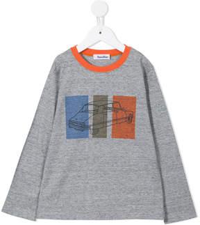 Familiar car and stripe print T-shirt