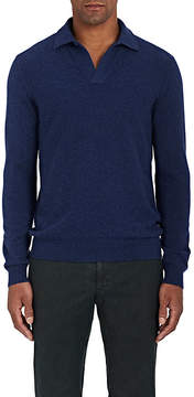 Loro Piana Men's Cashmere Polo Sweater