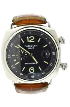 Panerai Radiomir GMT PAM184 Stainless Steel & Leather Automatic 42mm Mens Watch