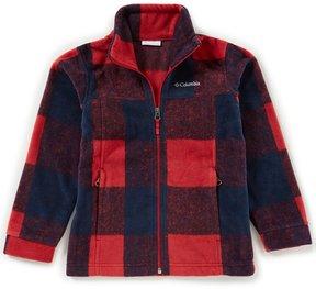 Columbia Big Boys 8-20 Zing III Buffalo Plaid Fleece Jacket