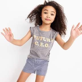 J.Crew Girls' future CEO T-shirt