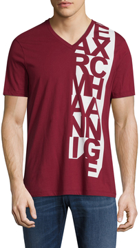 Armani Exchange Men's Vertical Graphic Cotton T-Shirt