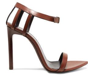 Saint Laurent Majorelle Leather Sandals - Brown