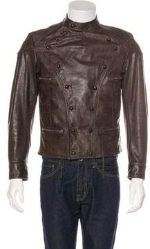Ralph Lauren Purple Label Double-Breasted Leather Jacket w/ Tags