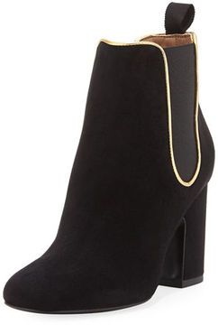 Laurence Dacade Gored Suede 70mm Bootie