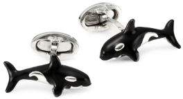 Jan Leslie Sterling Silver Whale Cufflinks