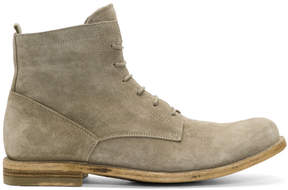 Officine Creative Taupe Suede Ideal 19 Boots