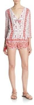 Saylor Gina Printed Short Jumpsuit