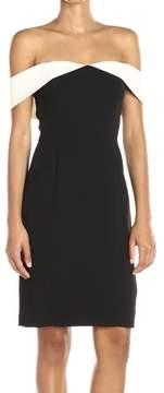 Calvin Klein Women's Colorblocked Off-The-Shoulder Dress