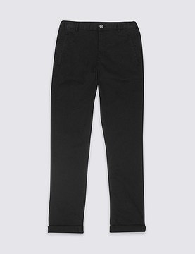 Marks and Spencer Cotton Trousers with Stretch (3-14 Years)