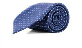 Salvatore Ferragamo Men's Blue Silk Tie.