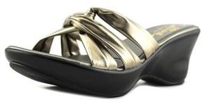 Callisto Gaylenn Women Open Toe Synthetic Bronze Slides Sandal.