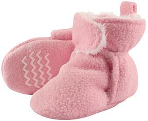 Hudson Baby Light Pink Sherpa Fleece-Lined Booties - Girls
