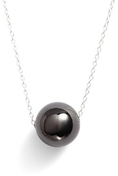 Argentovivo Women's Sphere Pendant Necklace