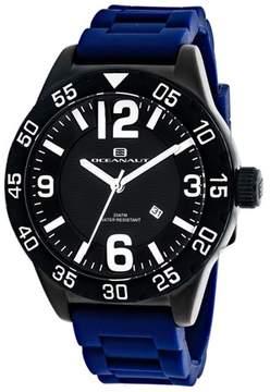 Oceanaut Aqua One OC2713 Men's Round Blue Silicone Watch