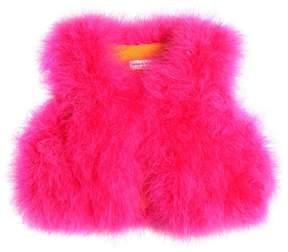 Sonia Rykiel Feather Vest W/ Cotton Lining