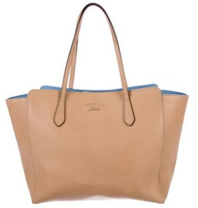Gucci Medium Swing Tote - BROWN - STYLE