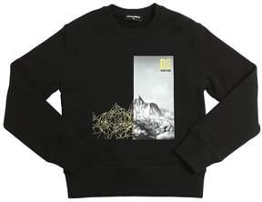 DSQUARED2 Mountain Printed Cotton Sweatshirt
