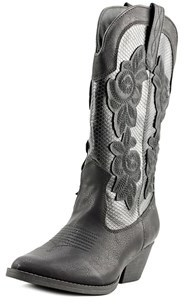 Rampage Vida Women Pointed Toe Synthetic Black Western Boot.