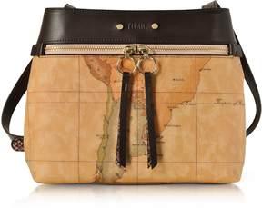 Alviero Martini Vanity Dark Brown Leather Shoulder Bag