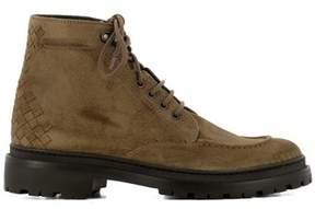 Bottega Veneta Men's Brown Suede Ankle Boots.