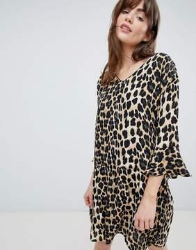 B.young Leopard Print Shift Dress