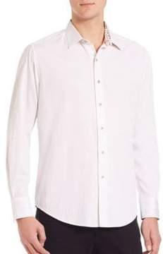 Robert Graham Volcanic Rock Woven Cotton Shirt