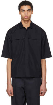 Jil Sander Navy Front Pocket Shirt