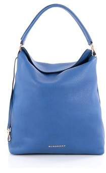 Burberry Pre-owned Cale Hobo Grainy Leather Medium. - BLUE - STYLE