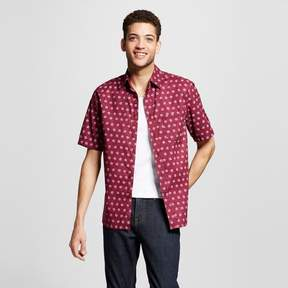 Mossimo Men's Short Sleeve Button Down Shirt Printed
