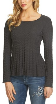 CeCe Women's Chevron Stitch Sweater
